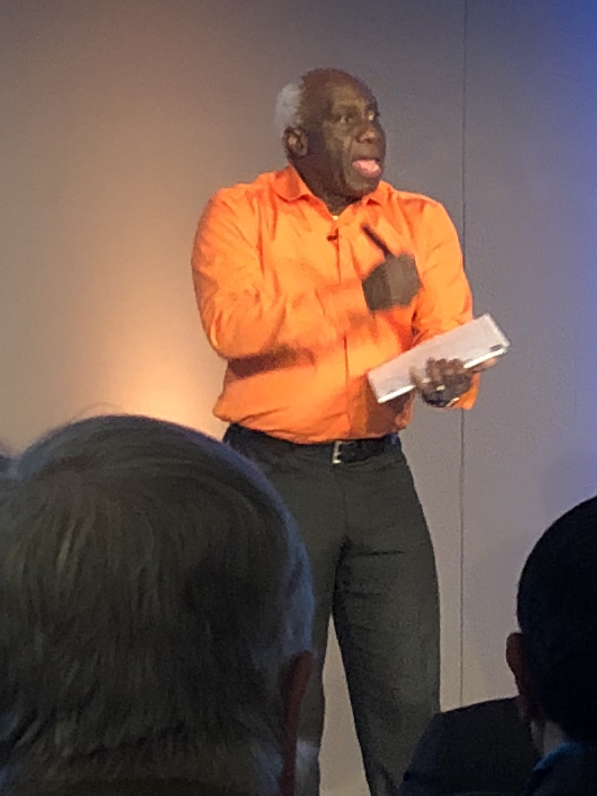 Eddie Obeng energized us all during his keynote speech