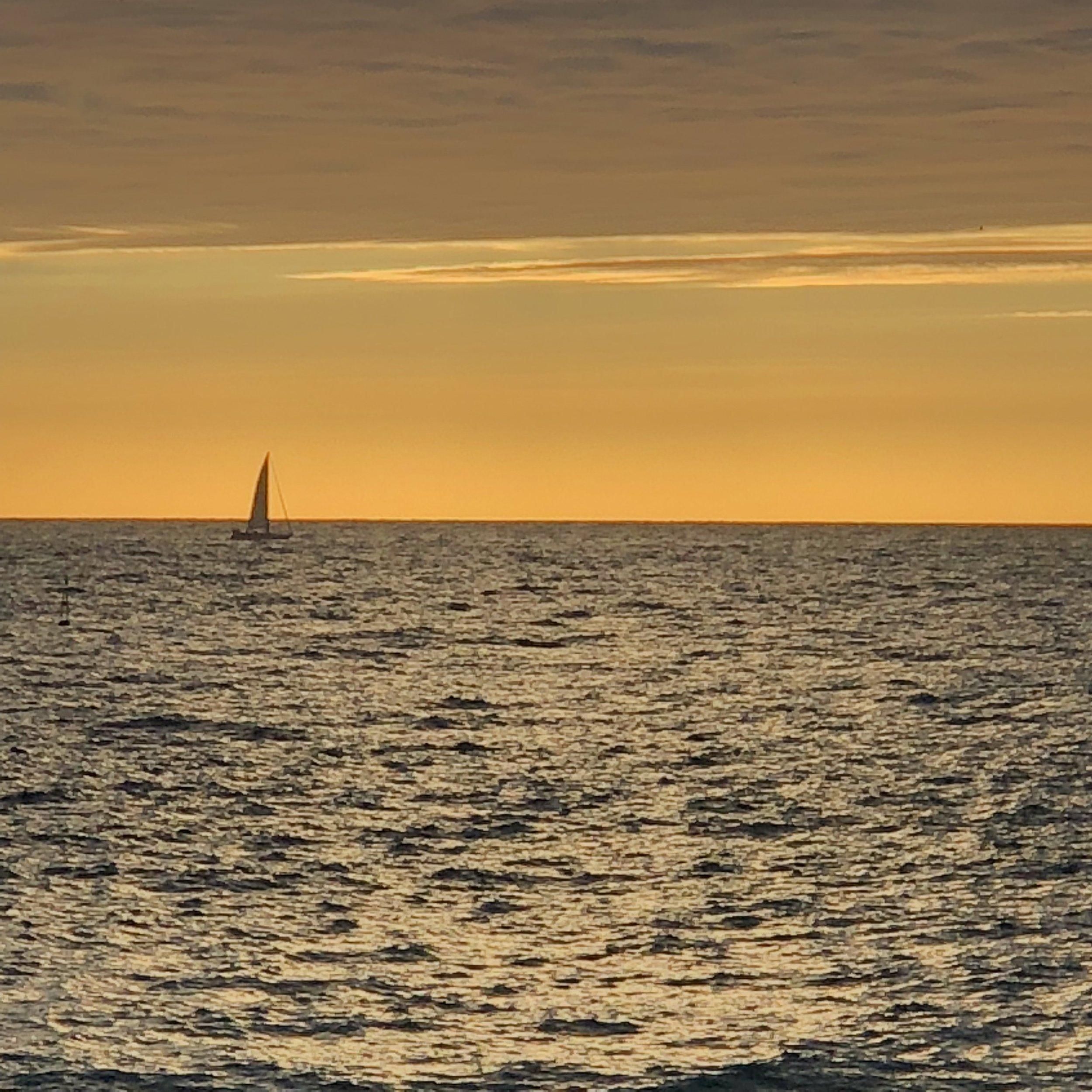 Sunrise over the Mediterranean Sea