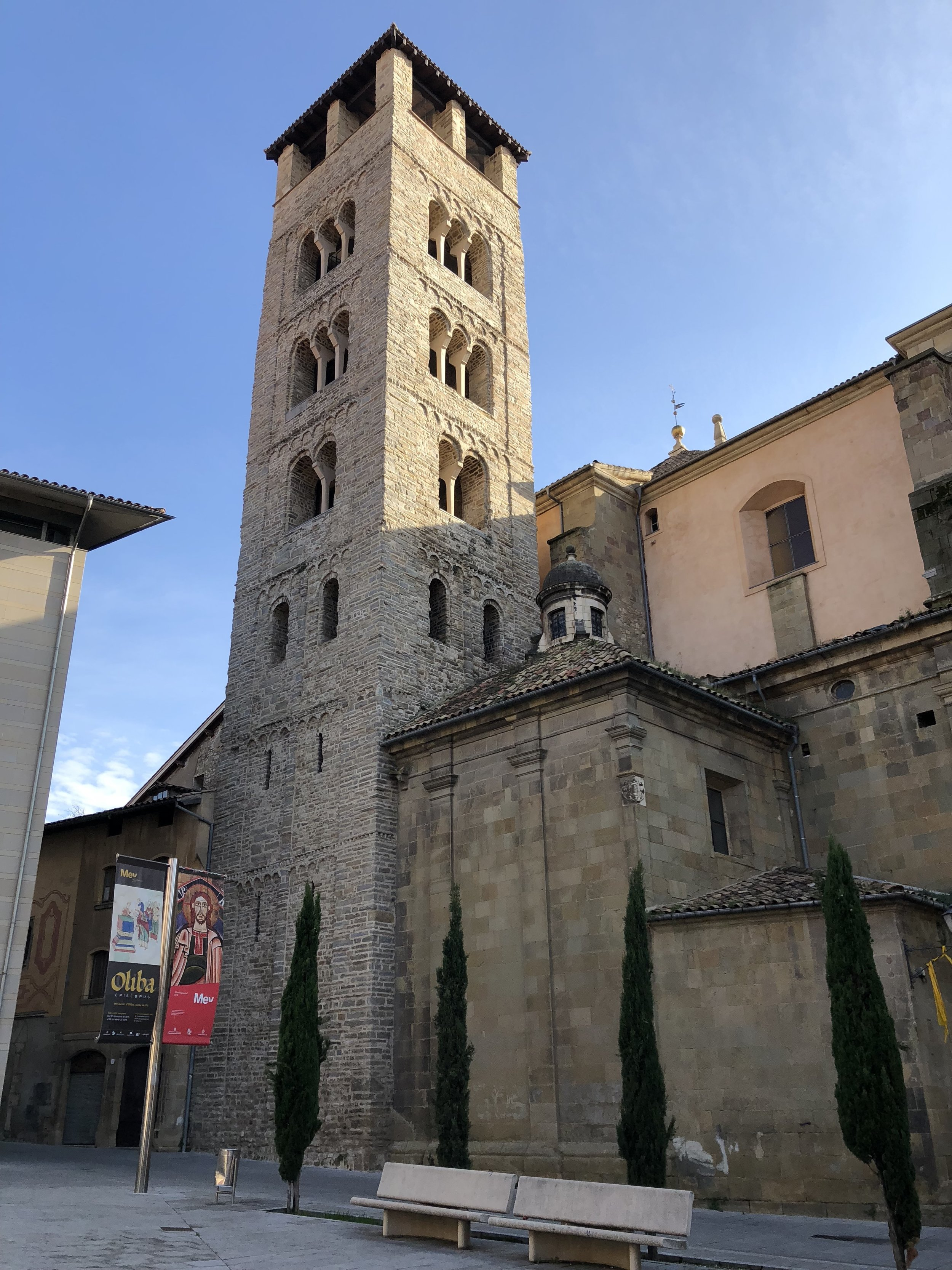 An old tower in the heart of Vic, a lovely town located an hour outside of Barcelona in the mountains