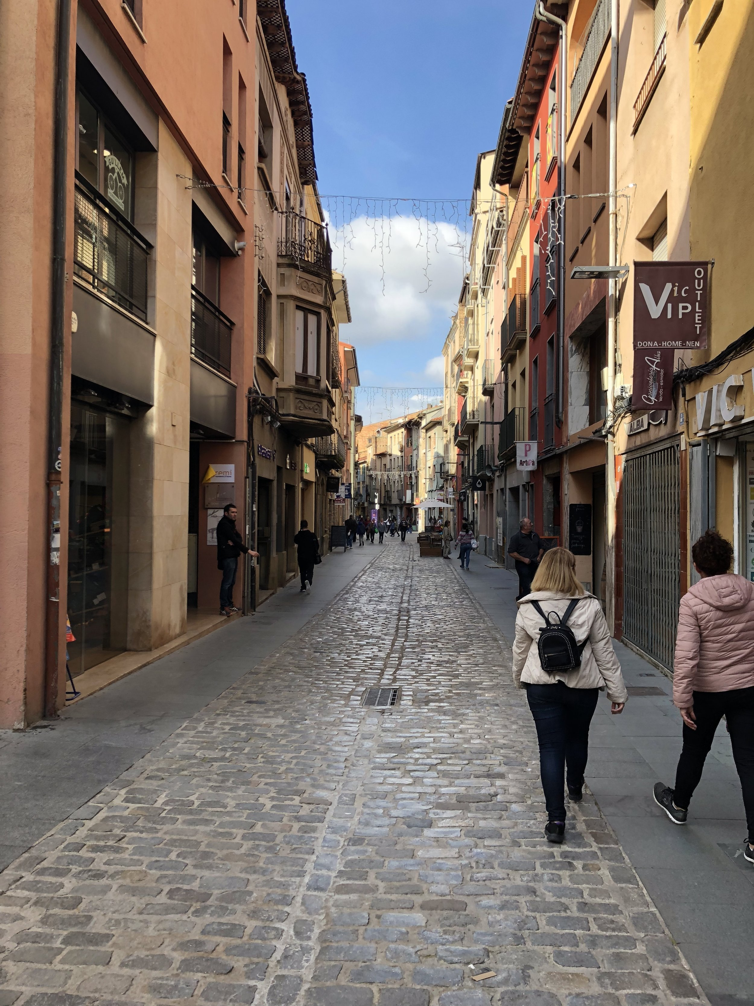 The old town center in Vic near Barcelona