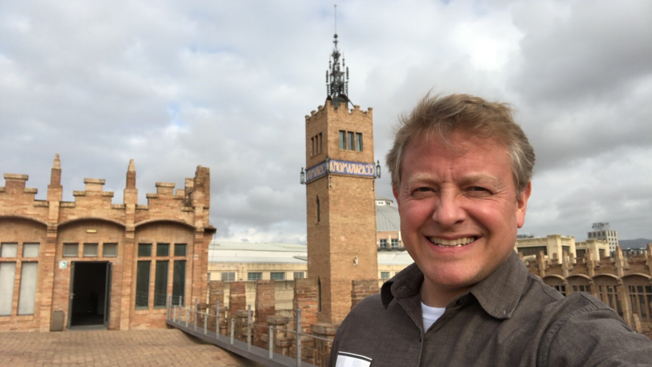 The author on the rooftop of CaixaForum in Barcelona