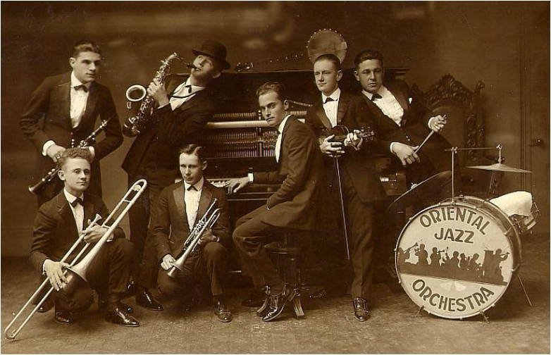 This was one of many early jazz bands with an Oriental theme. Source:  Polarityrecords.com