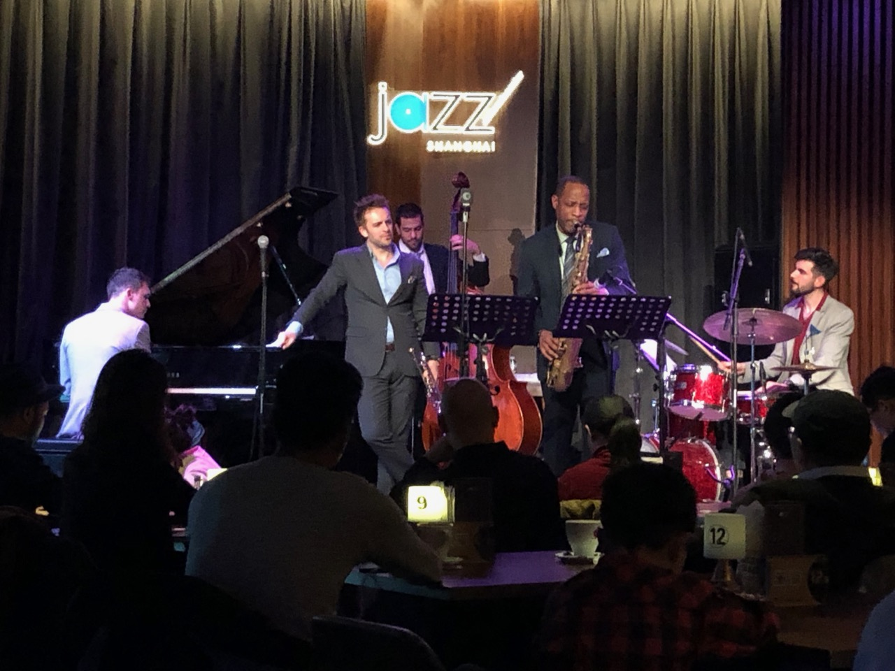 The Benny Benack Quartet with guest musician Walter Blanding, at Jazz at Lincoln Center Shanghai April 30 2019