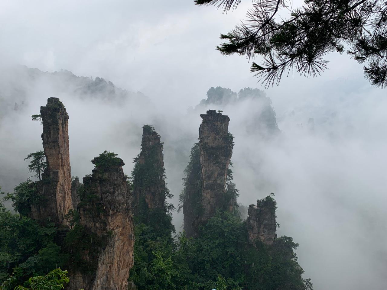 The view from Tianzishan in Zhangjiajie