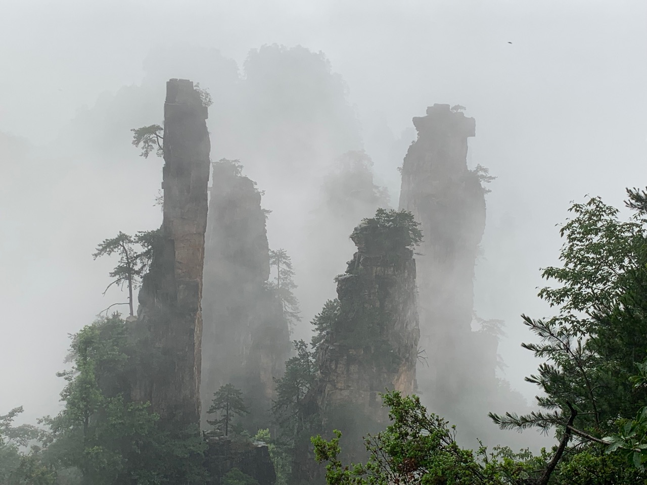 The magical, mystical view from Tianzishan