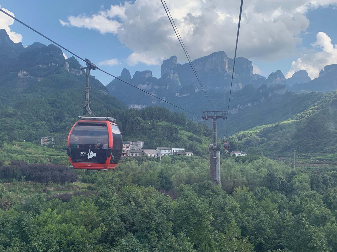 The cable car down the mountain—now that was a nice ride!