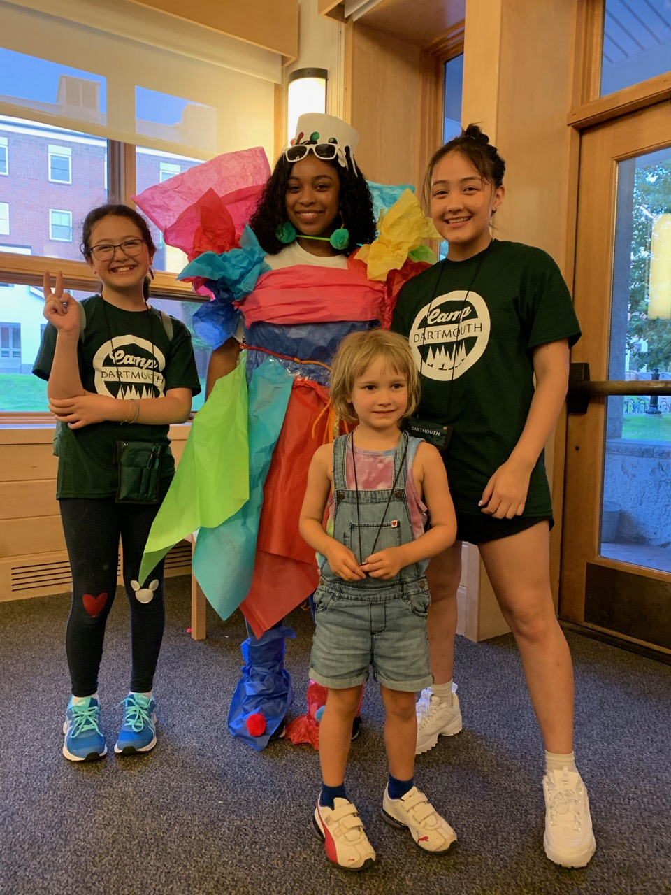 The girls had fun dressing up one of the counselors during a friendly ice-breaker the first night
