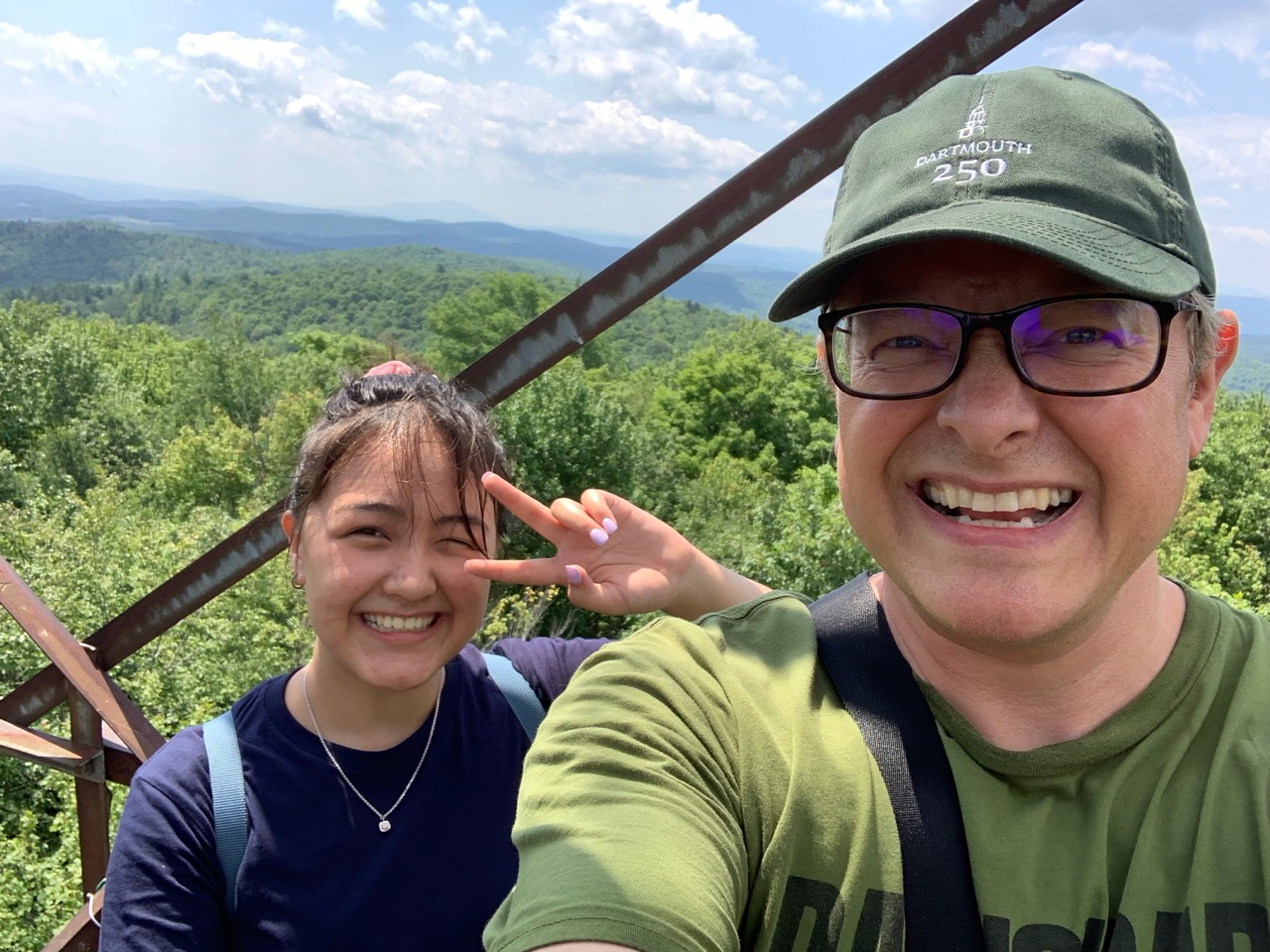On the fire tower on Gile Mountain