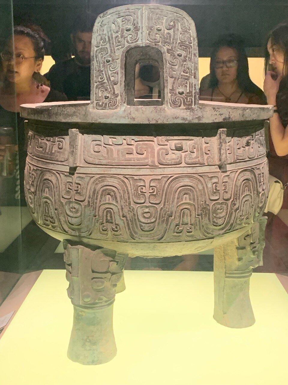 Da Ke Ding Food Vessel, King Xiao Reign, Western Zhou (end of 10th c. BC)