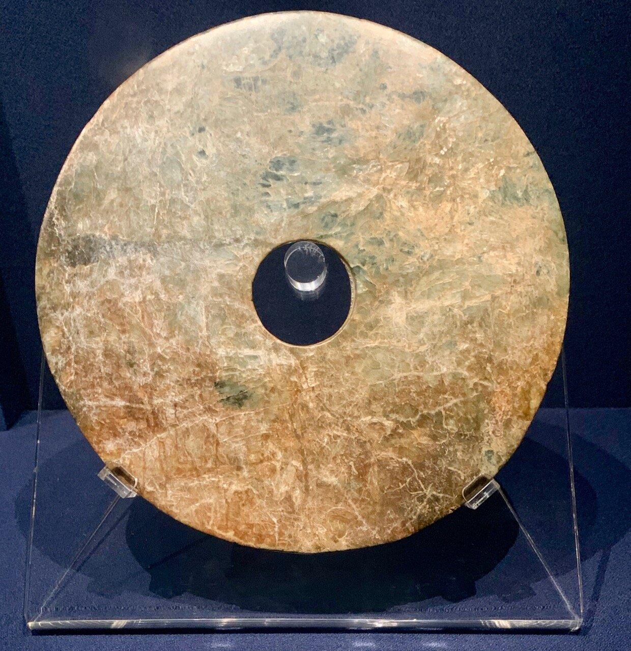 Bi Disc, Liangzhu Culture (c 3200-2200 BC)