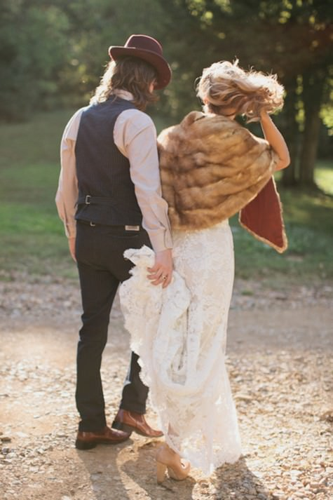 Photograph by Brandon Chesbro via  Boho Weddings
