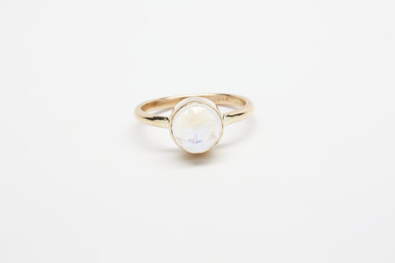 Moonstone 14k Gold Ring by  iadornu
