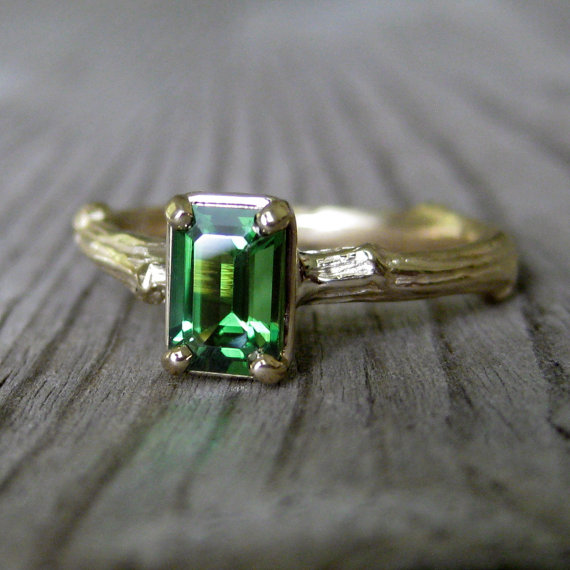 Emerald Cut Twig Ring by  KristinCoffin