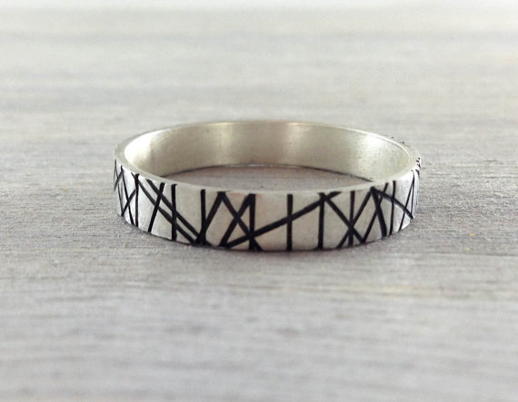 Modern Silver Men's Ring by RavenRepublic