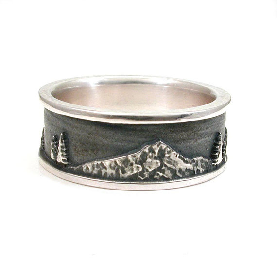 Mt. Hood Sterling Silver Ring by SwankMetalsmithing