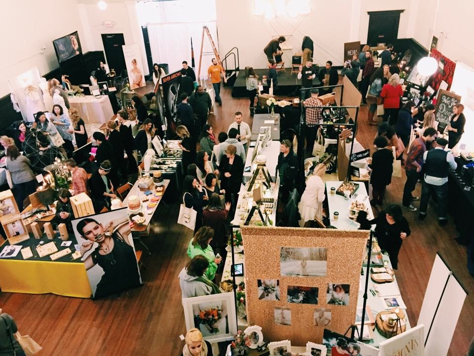 Overhead shot of all the vendor displays. Photo by Heidi Lynn Benjamin