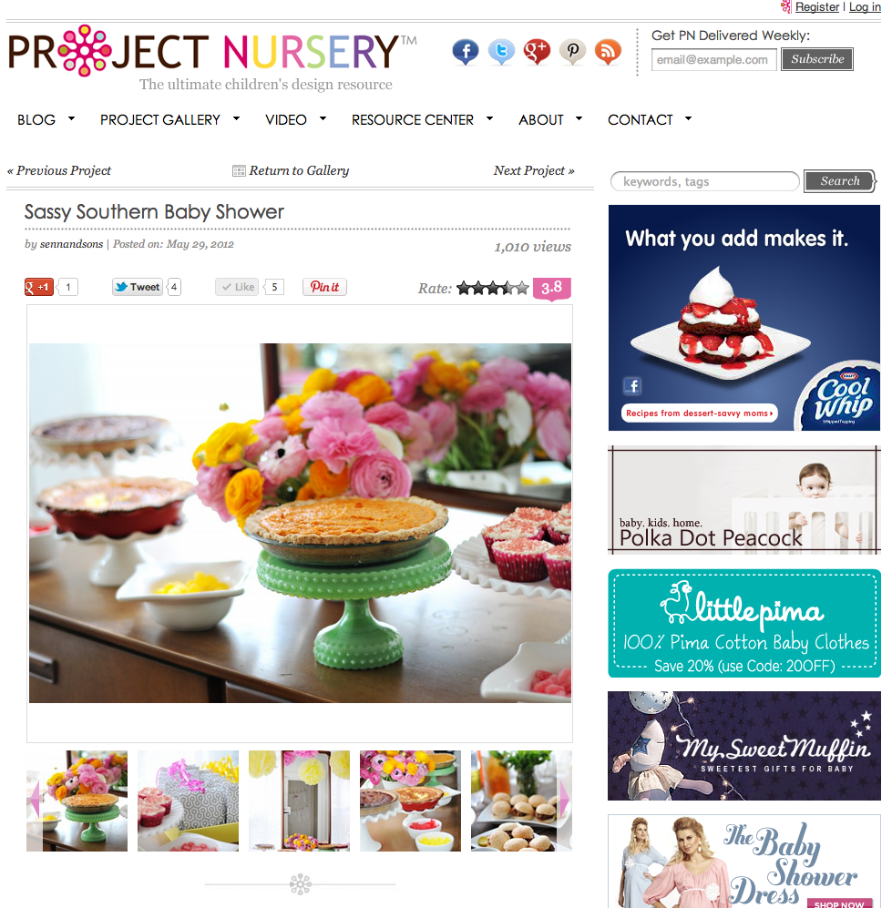 Project Nursery Party Page