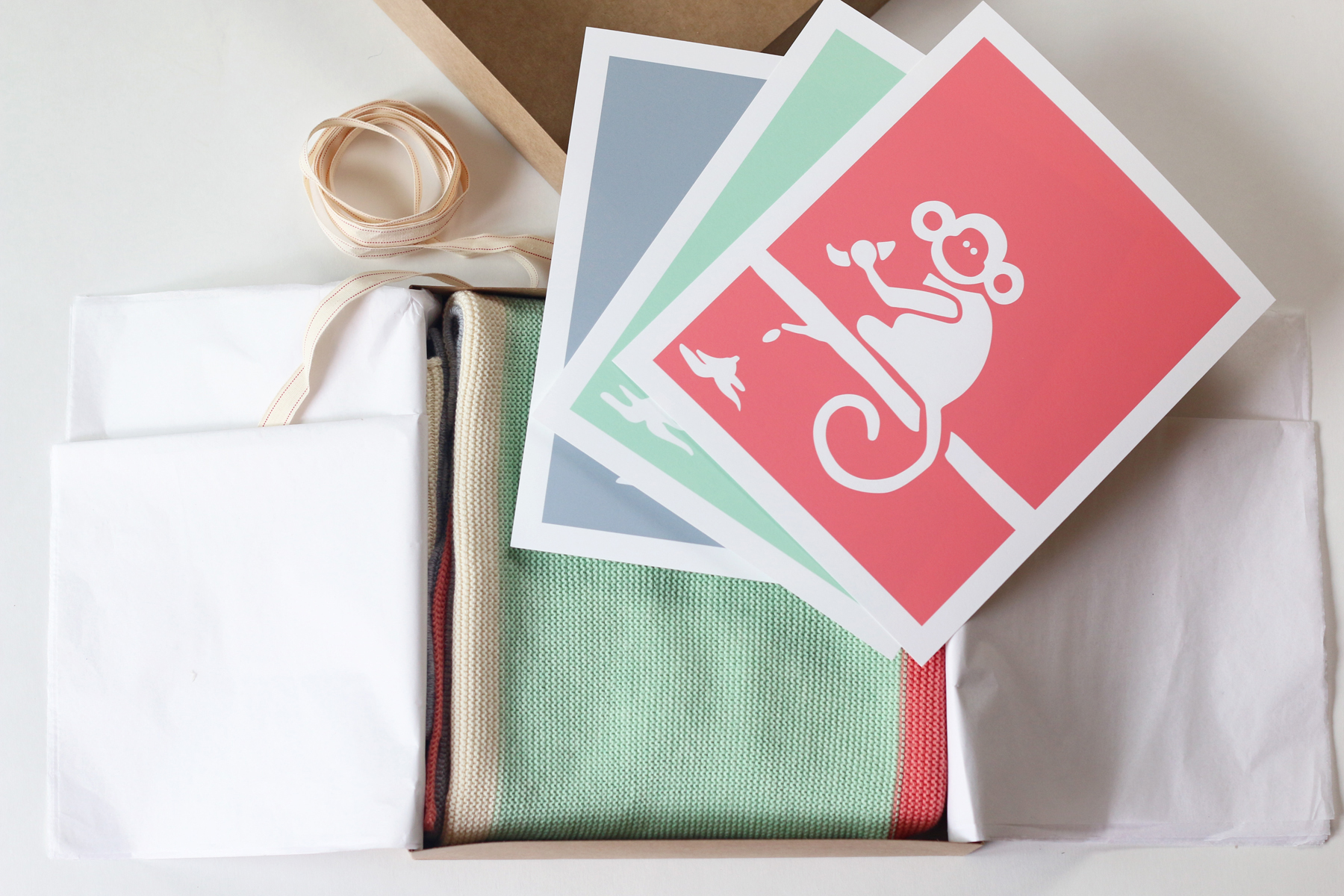 The gift set comes wrapped with tissue paper and packaged in a lovely kraft box wrapped with ribbon. You can send it to anyone with your personalized gift message!