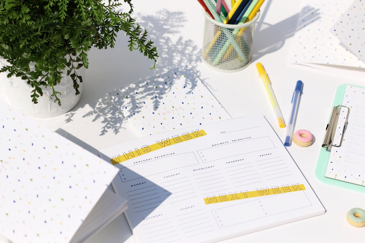 Weekly Priorities Planner // Stay organized and focused on goals