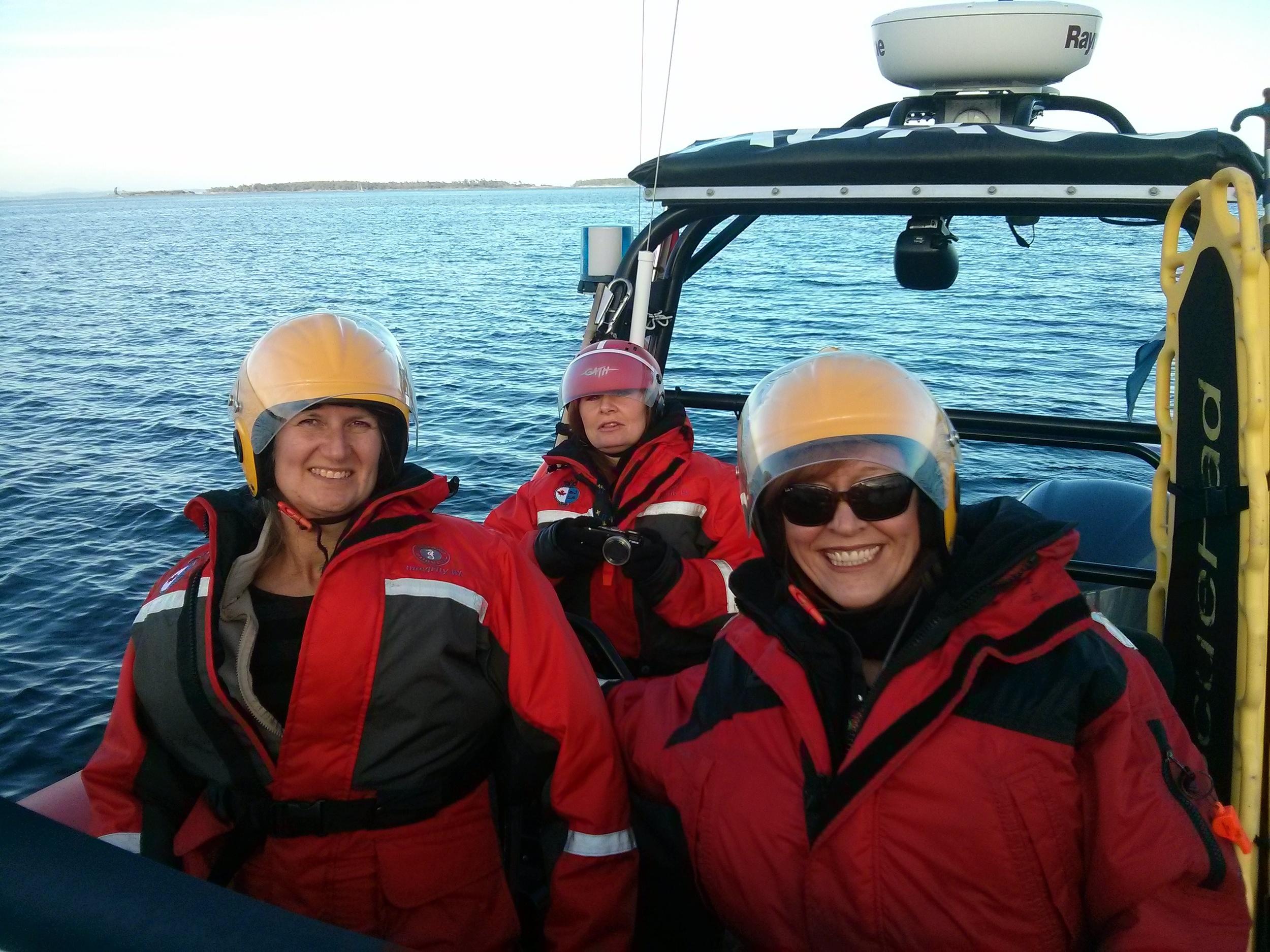 On the Oak Bay Sea Rescue boat