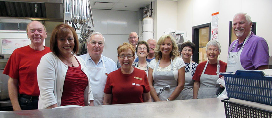 """Serving breakfast at """"Our Place"""" - Volunteering and being involved in our community is extremely important to me"""