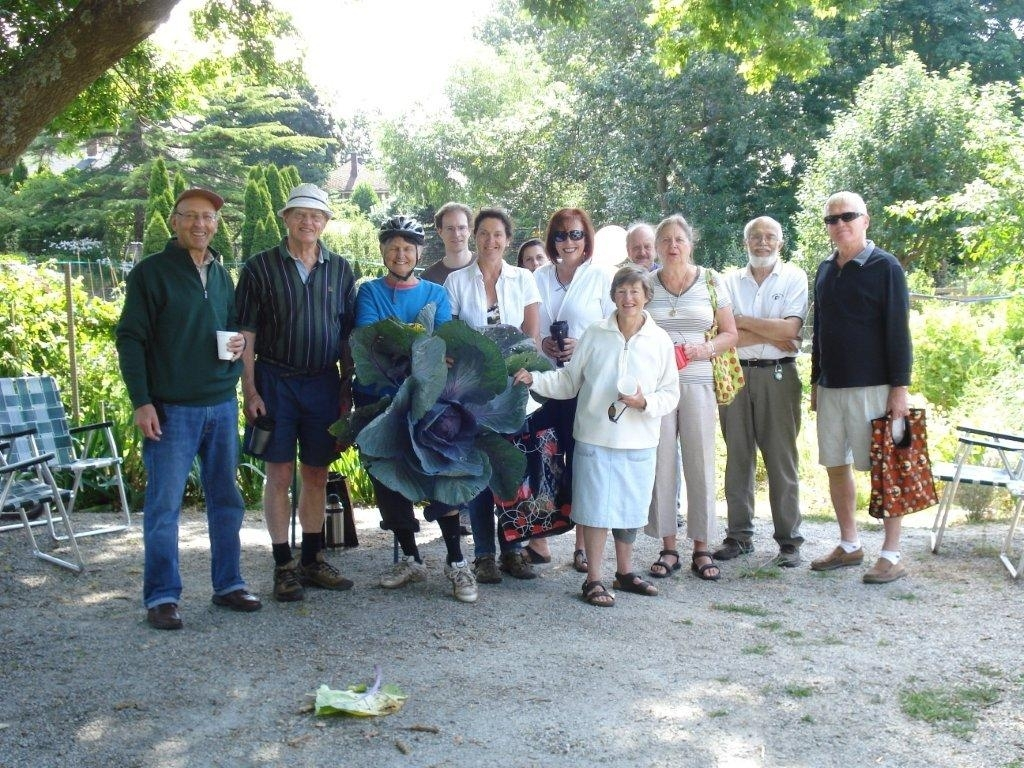 Hazel with the Monterey Allotment Gardens group
