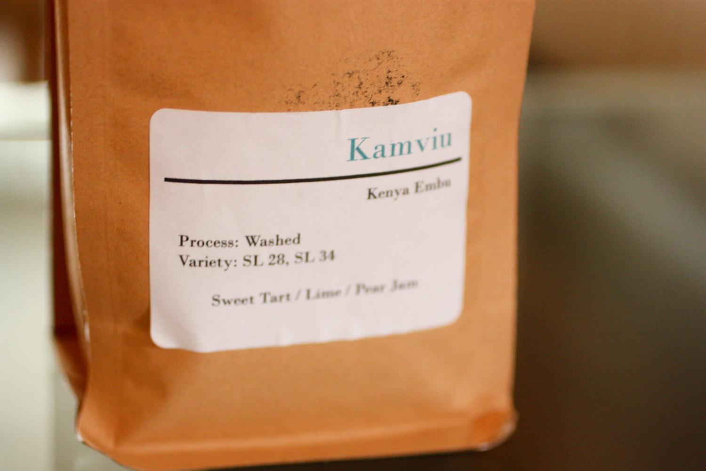 June's Coffee was Kamviu, from Kenya