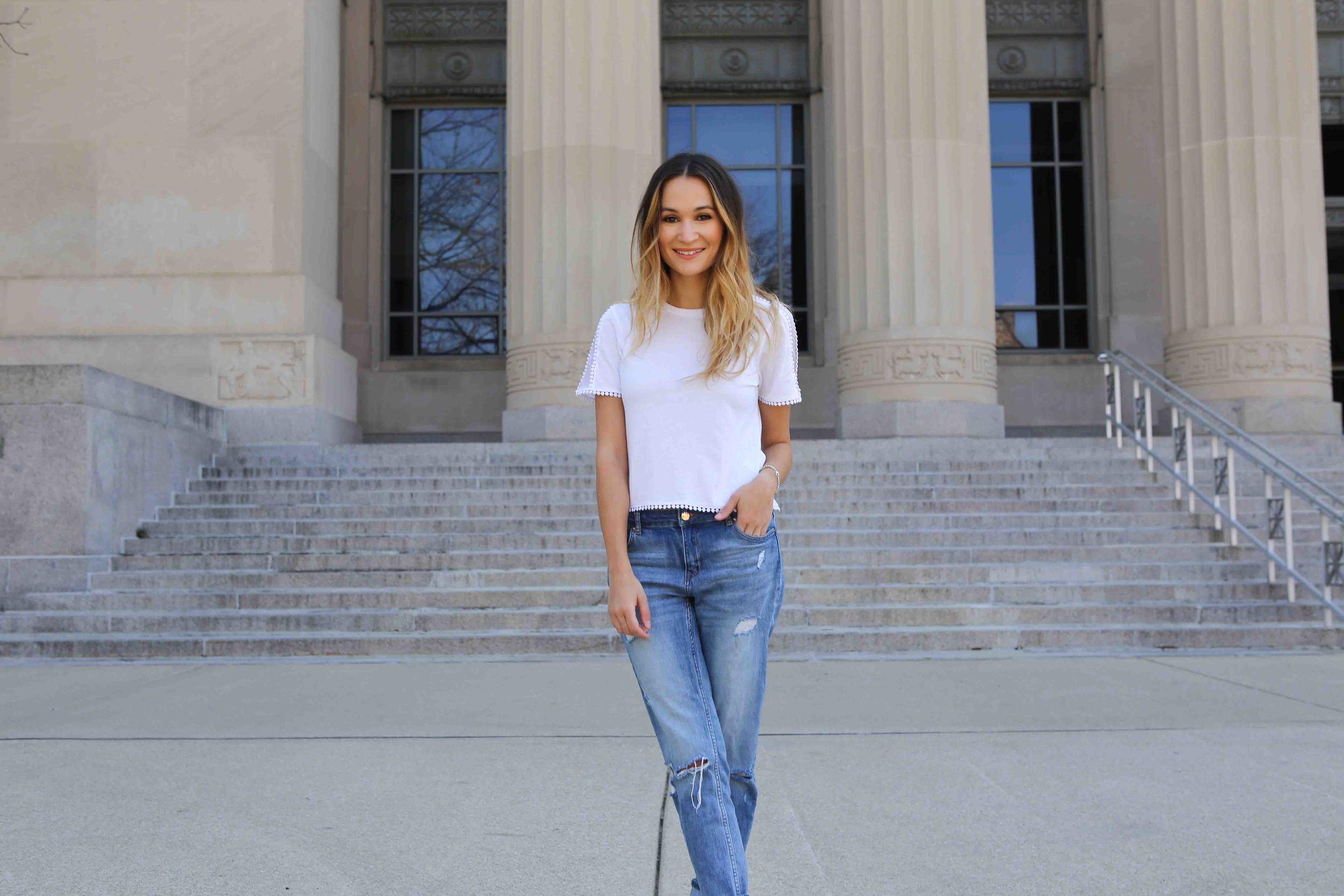 Topshop Tee   //   H&M Jeans