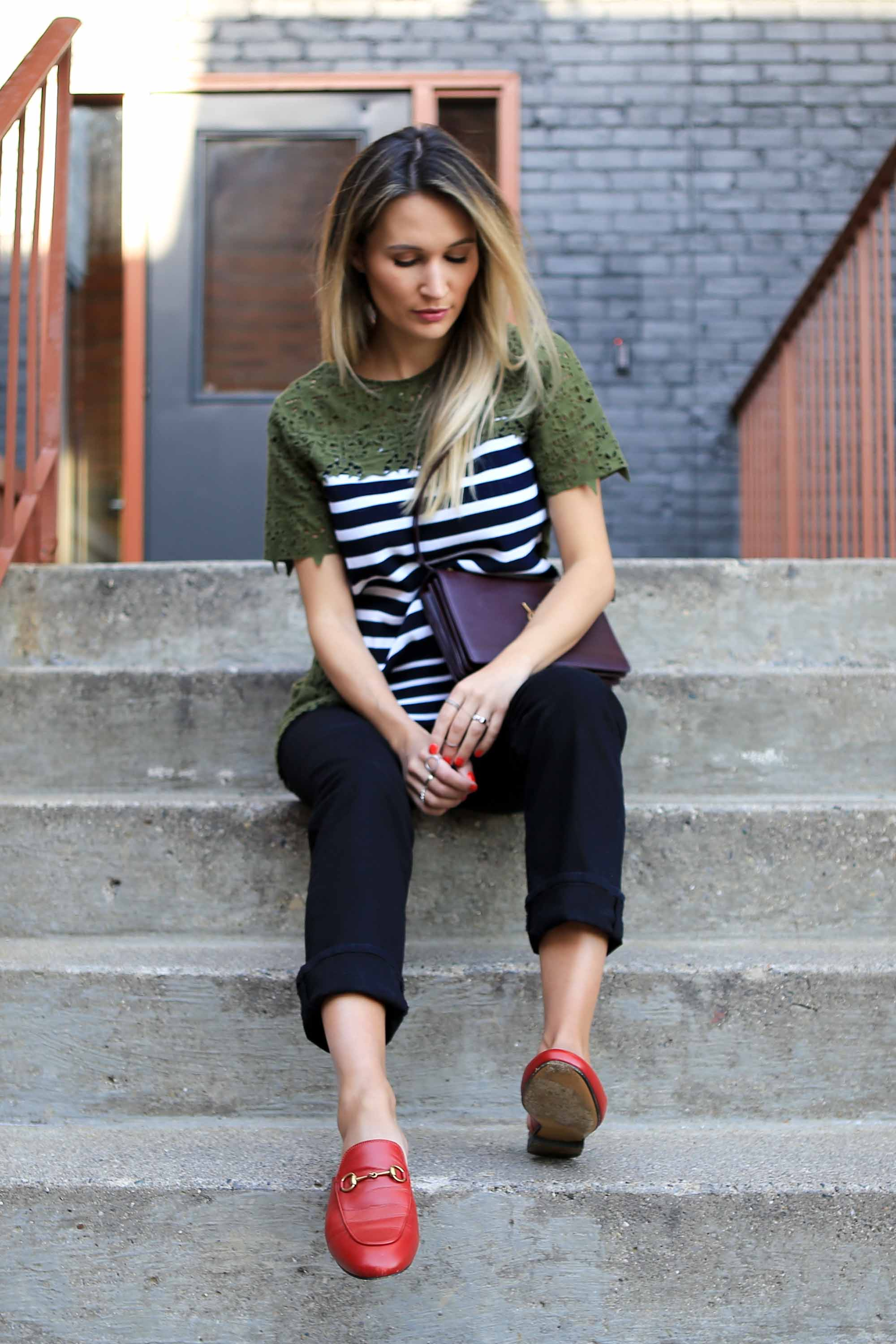In lieu of funny phrases, I prefer mixing textures and prints - or choosing a piece that slightly tweaks the silhouette of a classic Tee with a wrap detail or an unexpected ruffle on the sleeves.