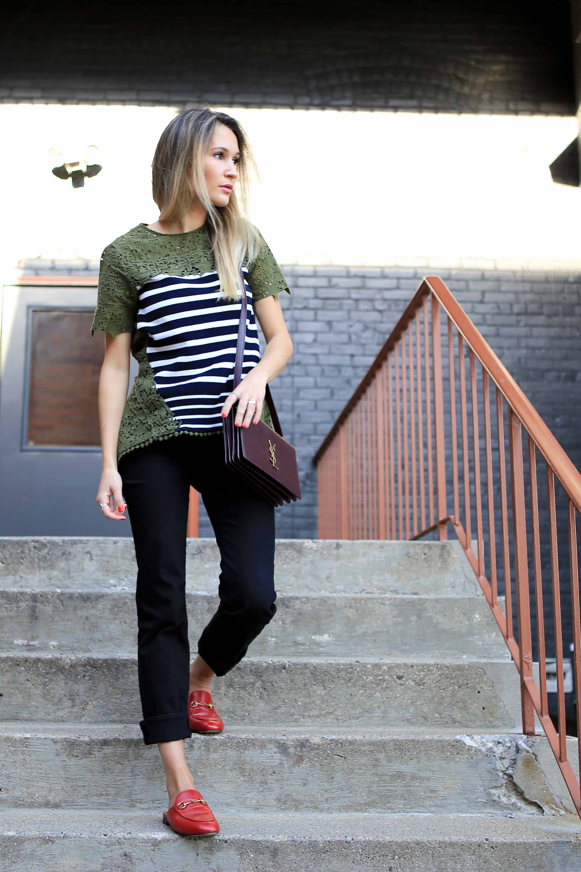 GET THE LOOK - TOP - THEORY OF GAIABAG - SAINT LAURENTJEANS - FRAMESHOES - GUCCI