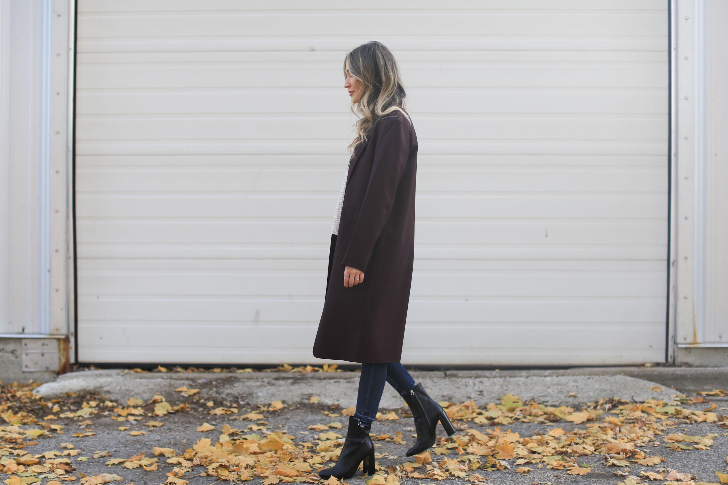 long burgundy blazer
