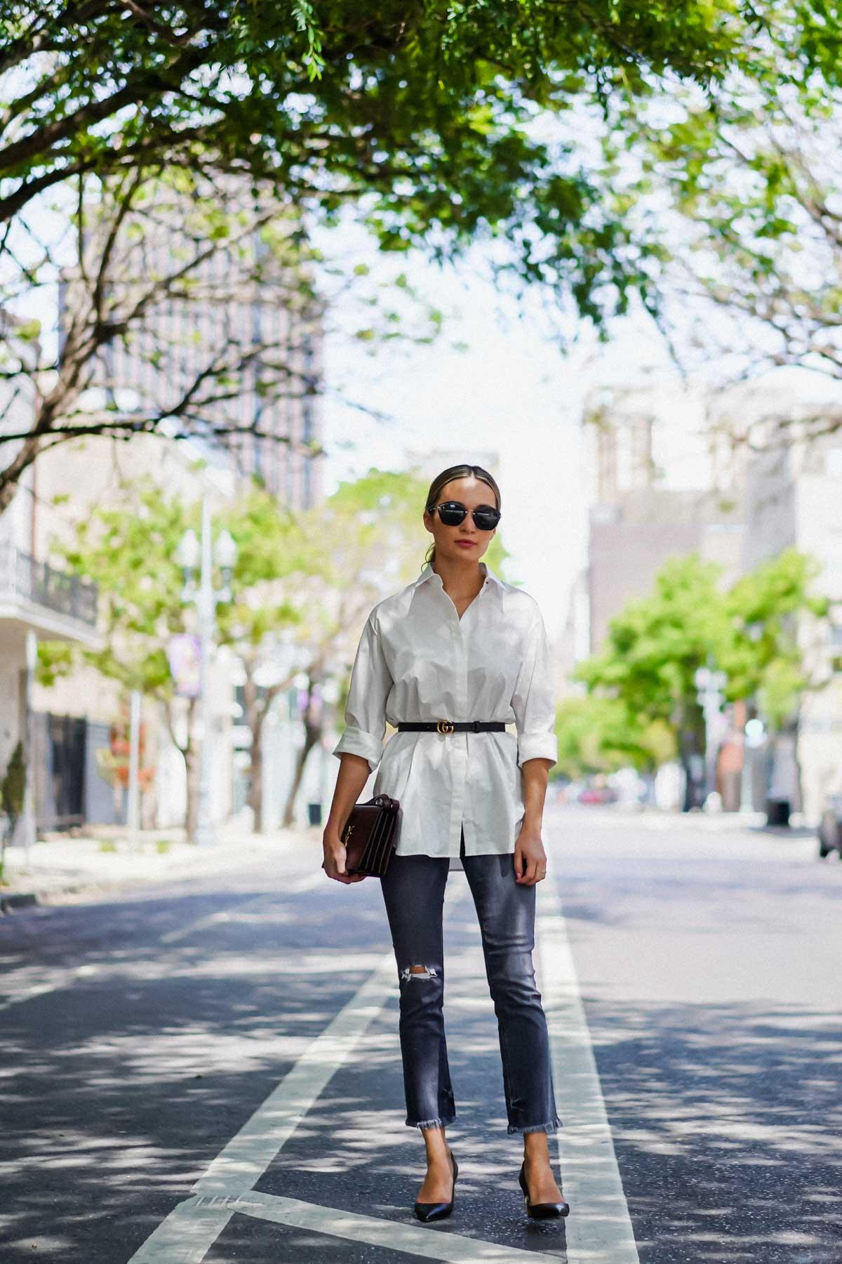 spring style the row white shirt