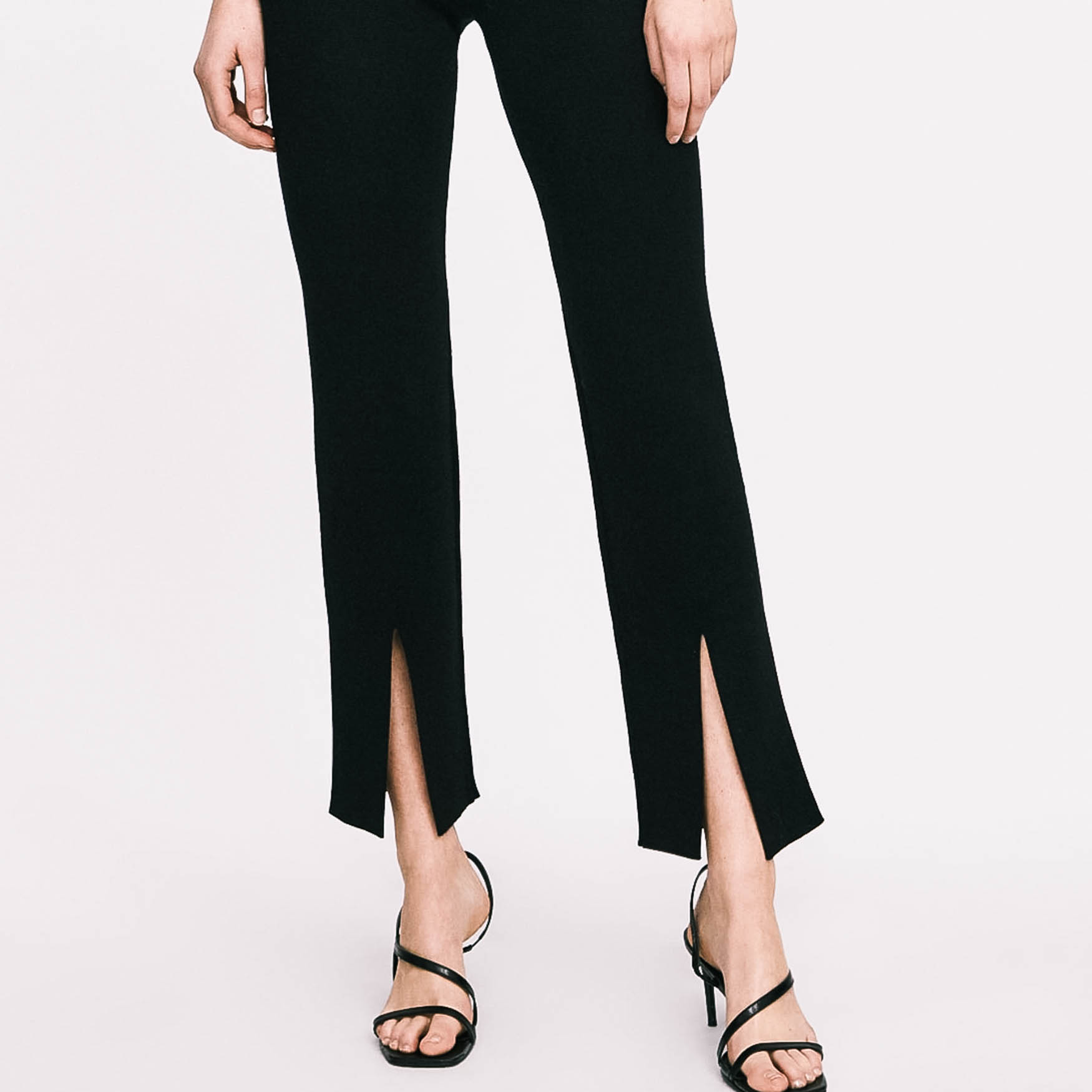 zara split trousers