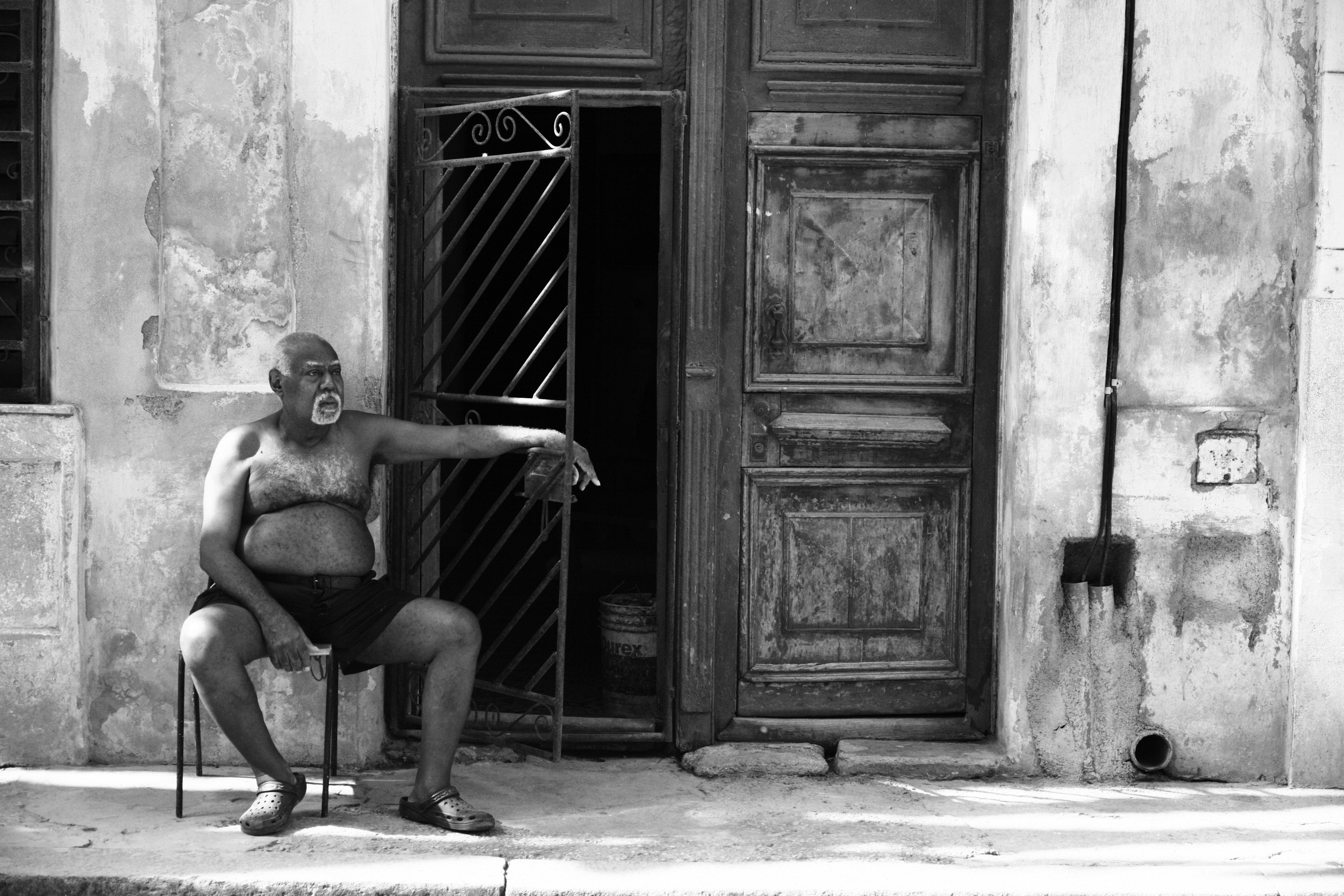 """Paragon   """"This guy kinda sums up Cuba for me. Beautiful, thoughtful people, spending their time just hanging. Life is a lounge. It's incredible."""""""