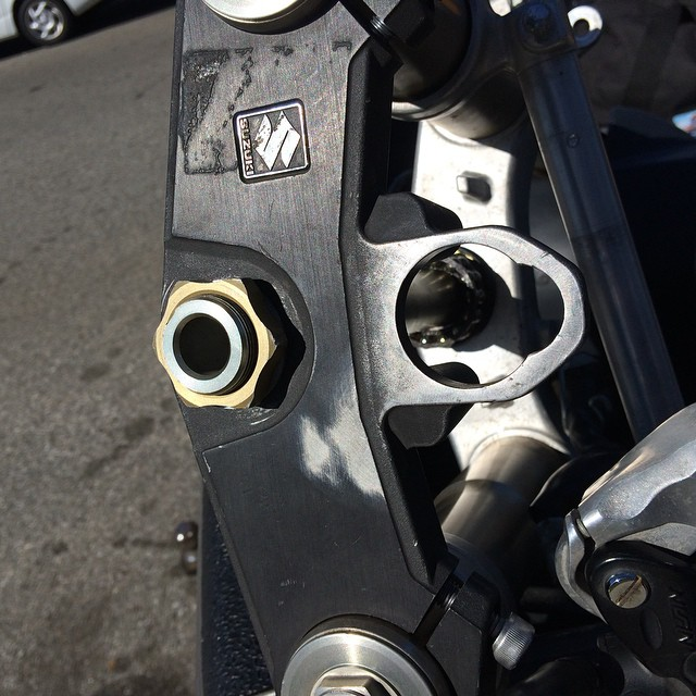 Just found Zorans old gsxr triple clamp on a front end I installed at west coast for sale on craigslist in West Covina #smallworld #twinworksfactory #restoration