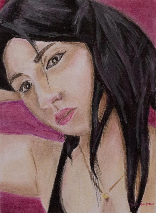 tychoholden_portraitoflaila01_oilpastelsonpaper_11.25_X_8