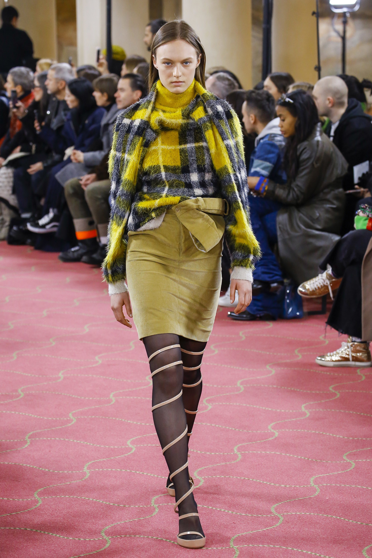 Y/PROJECT Tartan Knit and Asymmetrical Pencil Skirt