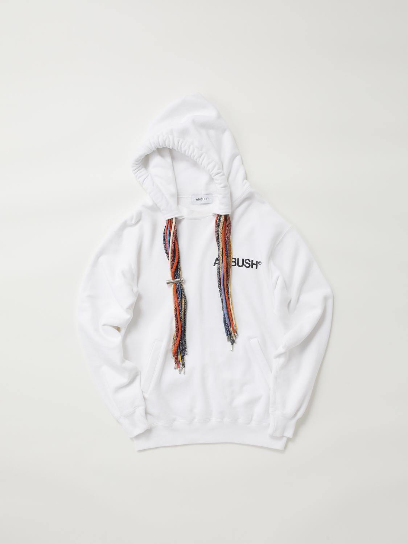 Multi Cord Hoodie, White