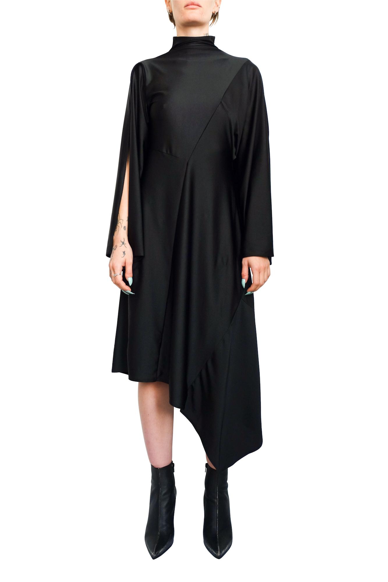 Patchwork Drape Dress