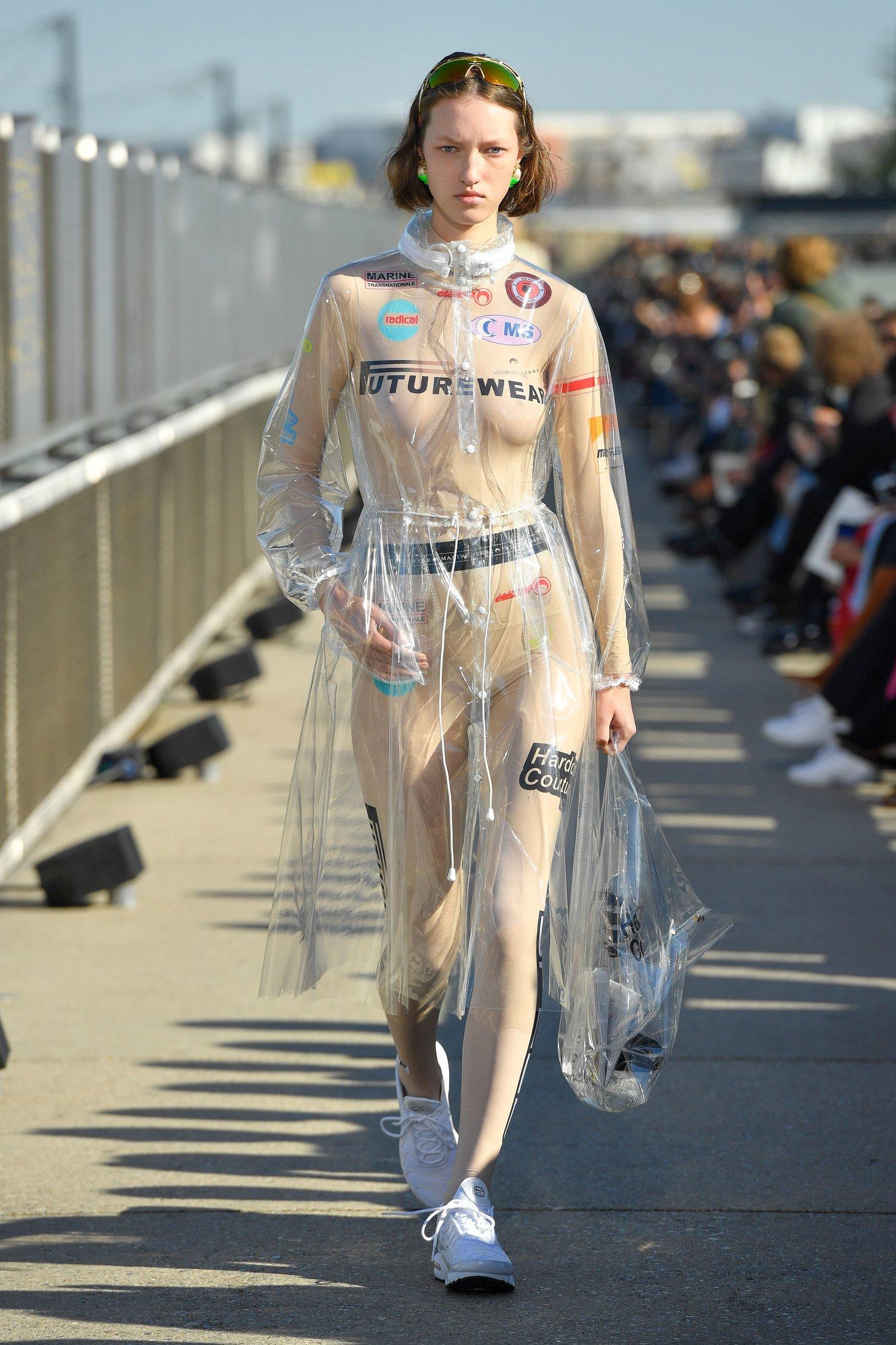 MARINE SERRE Transparent Raincoat $1249 -