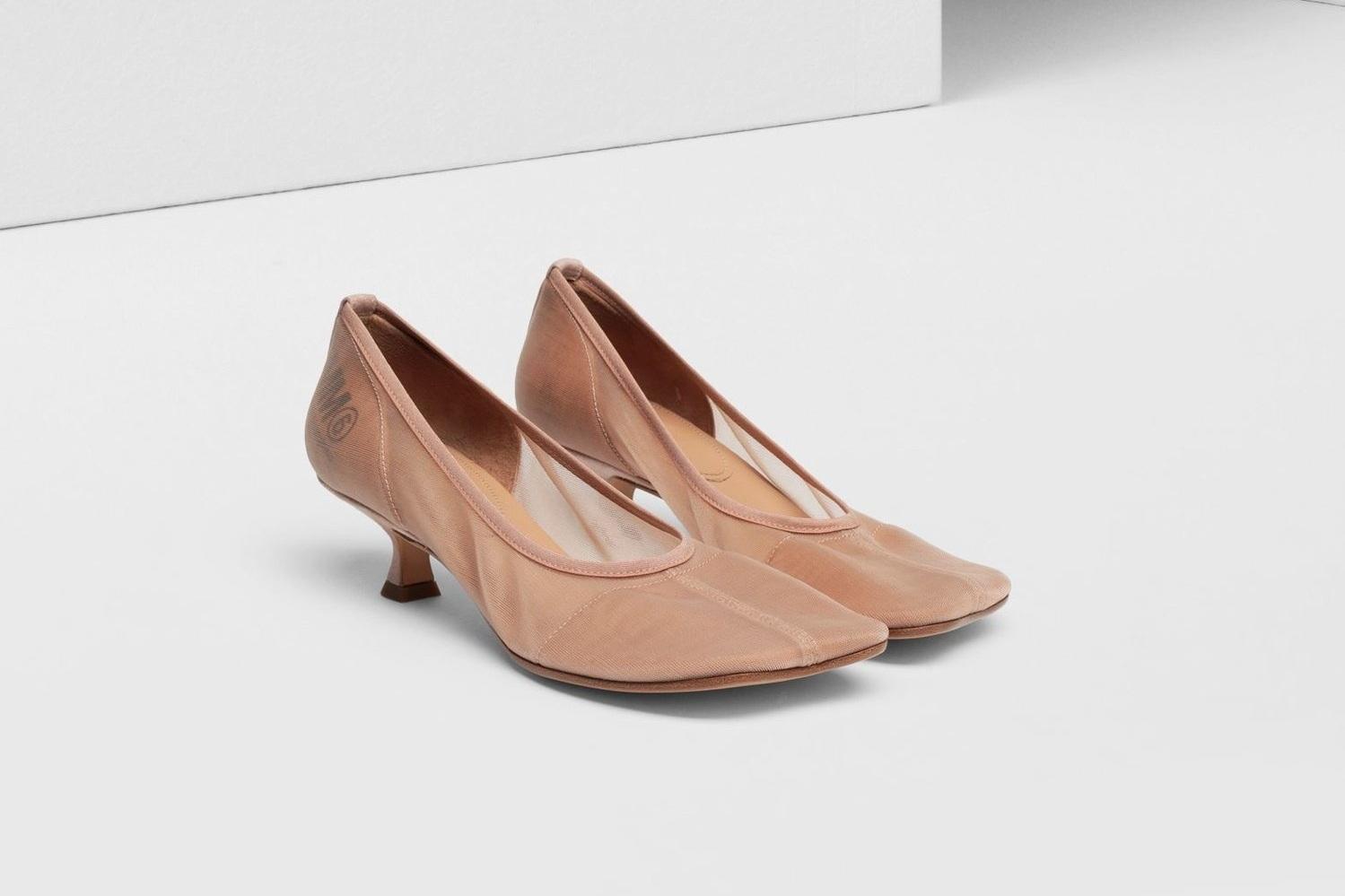 MM6 MAISON MARGIELA Mesh Kitten Heels (729) now $395
