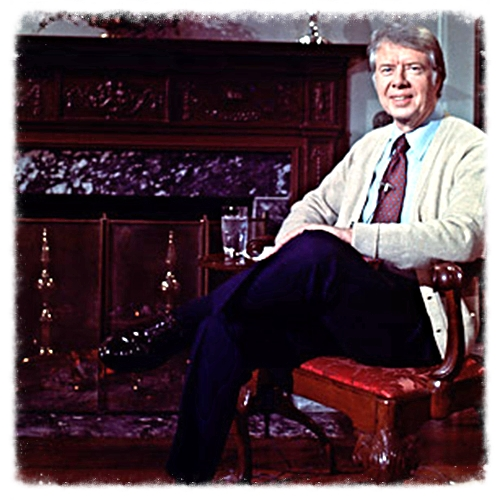 Jimmy Carter and his sweater.