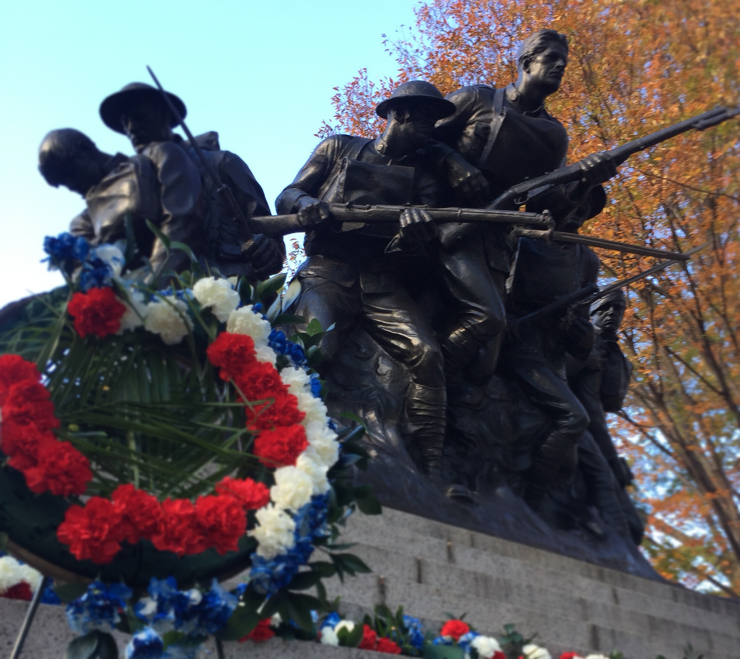World War I memorial at East 67th and 5th Ave, Manhattan - 11/11/2016 - Photo by John