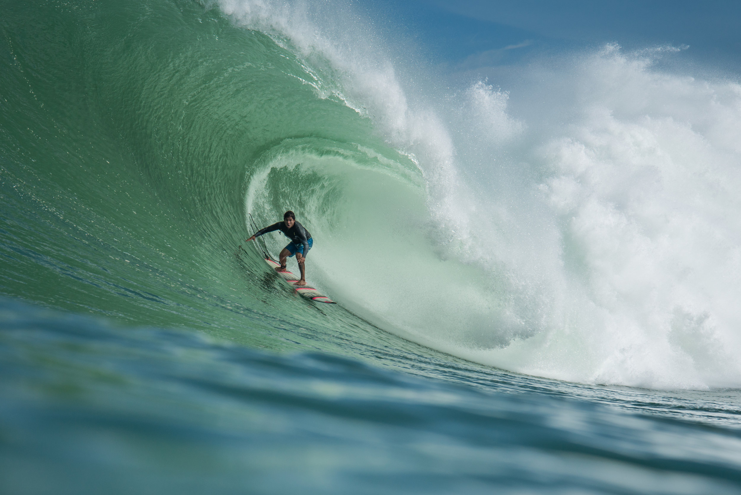Maria's late friend and surfing legend Oscar Moncada at Zicatela in Puerto Escondido