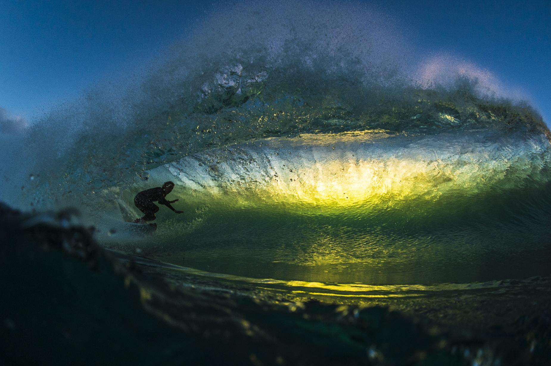 Jacob Wilcox in a backlit gem