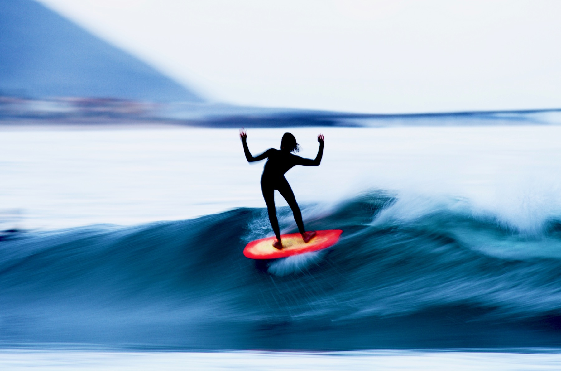 Morgans slow shutter work has inspired many aspiring surf photographers