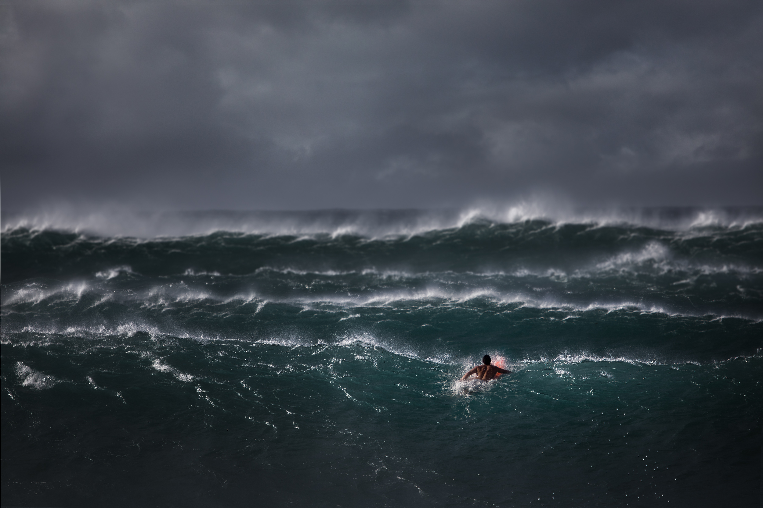 strong winds and big swell - north shore, hawaii