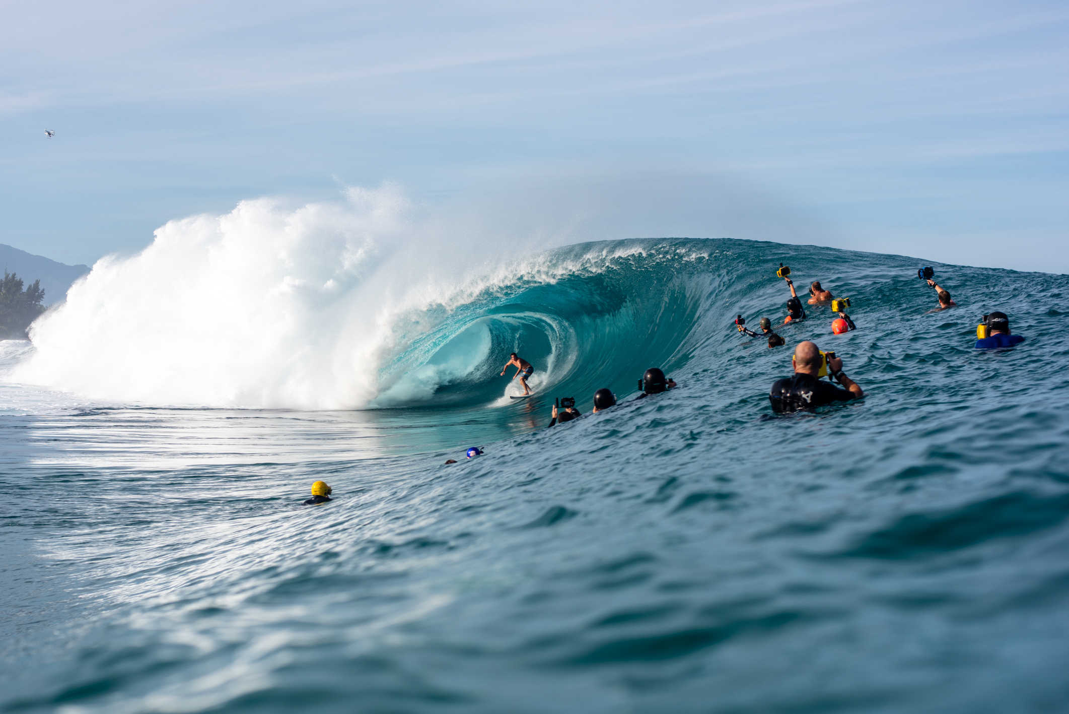 The line up of photographers at Pipe. And this was early season!