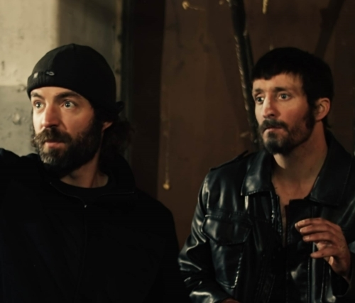 Kevin McCarthy (left) and Michael McCarthy (right, who stars as Ronan Pierce)