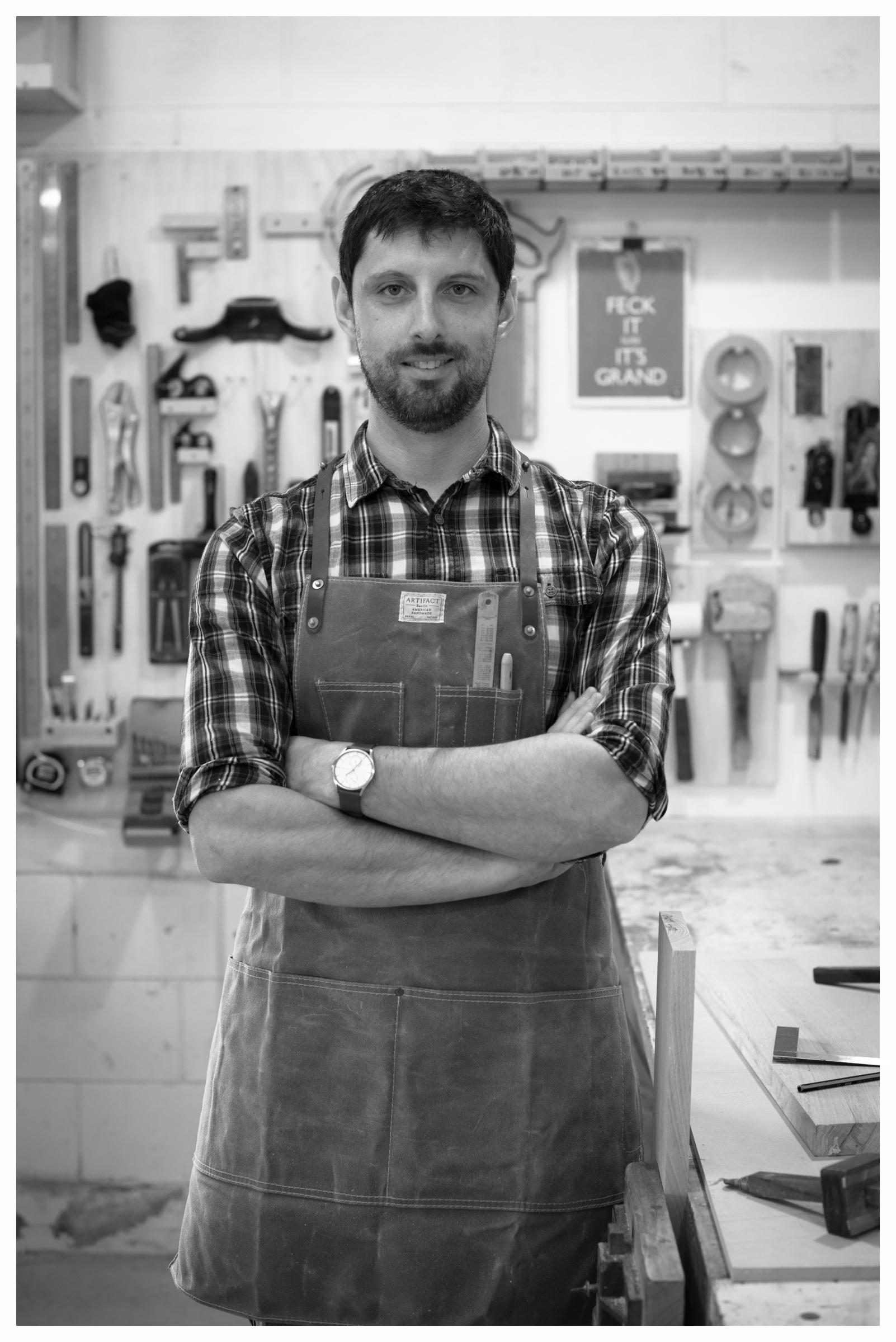 Phil at his workshop